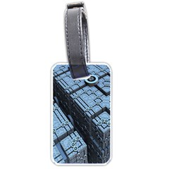 Grid Maths Geometry Design Pattern Luggage Tags (Two Sides)