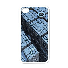 Grid Maths Geometry Design Pattern Apple iPhone 4 Case (White)