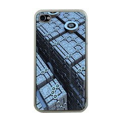 Grid Maths Geometry Design Pattern Apple iPhone 4 Case (Clear)