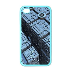 Grid Maths Geometry Design Pattern Apple iPhone 4 Case (Color)