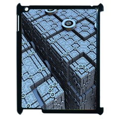 Grid Maths Geometry Design Pattern Apple iPad 2 Case (Black)