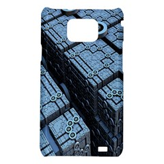 Grid Maths Geometry Design Pattern Samsung Galaxy S2 i9100 Hardshell Case