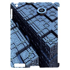 Grid Maths Geometry Design Pattern Apple iPad 2 Hardshell Case (Compatible with Smart Cover)