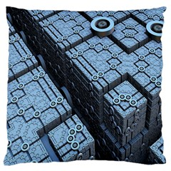 Grid Maths Geometry Design Pattern Large Cushion Case (One Side)