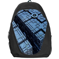 Grid Maths Geometry Design Pattern Backpack Bag