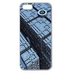 Grid Maths Geometry Design Pattern Apple Seamless iPhone 5 Case (Clear)