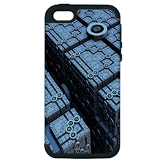 Grid Maths Geometry Design Pattern Apple iPhone 5 Hardshell Case (PC+Silicone)