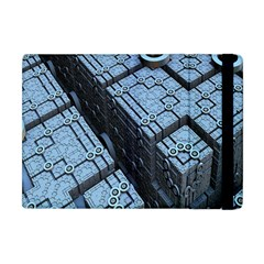 Grid Maths Geometry Design Pattern Apple iPad Mini Flip Case