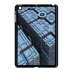 Grid Maths Geometry Design Pattern Apple iPad Mini Case (Black)