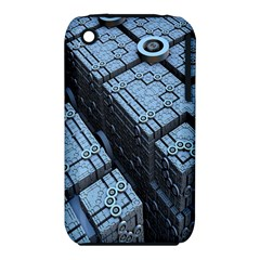 Grid Maths Geometry Design Pattern Apple iPhone 3G/3GS Hardshell Case (PC+Silicone)
