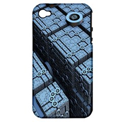 Grid Maths Geometry Design Pattern Apple iPhone 4/4S Hardshell Case (PC+Silicone)
