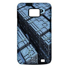 Grid Maths Geometry Design Pattern Samsung Galaxy S II i9100 Hardshell Case (PC+Silicone)