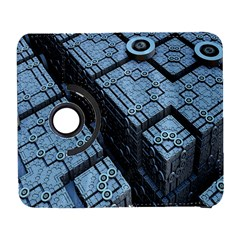 Grid Maths Geometry Design Pattern Samsung Galaxy S  III Flip 360 Case