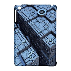 Grid Maths Geometry Design Pattern Apple iPad Mini Hardshell Case (Compatible with Smart Cover)