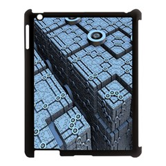Grid Maths Geometry Design Pattern Apple iPad 3/4 Case (Black)