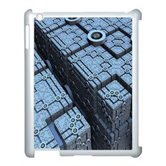 Grid Maths Geometry Design Pattern Apple iPad 3/4 Case (White)