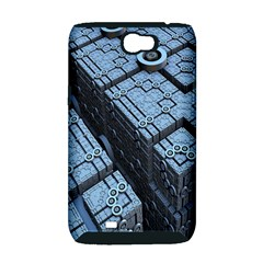 Grid Maths Geometry Design Pattern Samsung Galaxy Note 2 Hardshell Case (PC+Silicone)