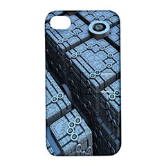Grid Maths Geometry Design Pattern Apple iPhone 4/4S Hardshell Case with Stand
