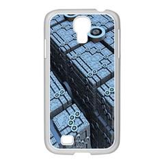 Grid Maths Geometry Design Pattern Samsung GALAXY S4 I9500/ I9505 Case (White)