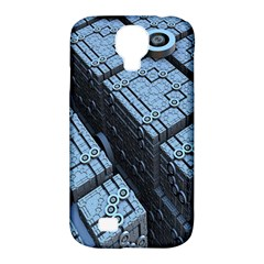Grid Maths Geometry Design Pattern Samsung Galaxy S4 Classic Hardshell Case (PC+Silicone)