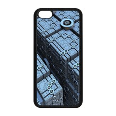 Grid Maths Geometry Design Pattern Apple iPhone 5C Seamless Case (Black)