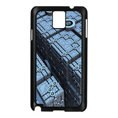 Grid Maths Geometry Design Pattern Samsung Galaxy Note 3 N9005 Case (Black)