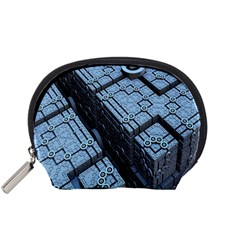 Grid Maths Geometry Design Pattern Accessory Pouches (Small)