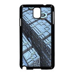 Grid Maths Geometry Design Pattern Samsung Galaxy Note 3 Neo Hardshell Case (Black)