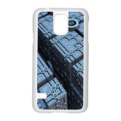Grid Maths Geometry Design Pattern Samsung Galaxy S5 Case (White)