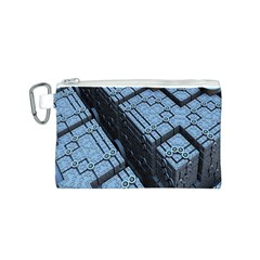 Grid Maths Geometry Design Pattern Canvas Cosmetic Bag (S)