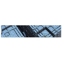 Grid Maths Geometry Design Pattern Flano Scarf (Small)