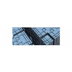 Grid Maths Geometry Design Pattern Satin Scarf (Oblong)