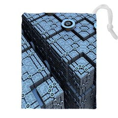Grid Maths Geometry Design Pattern Drawstring Pouches (XXL)