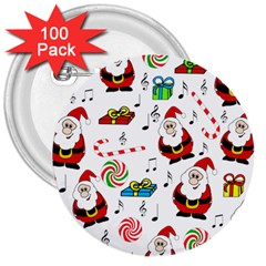 Xmas song 3  Buttons (100 pack)