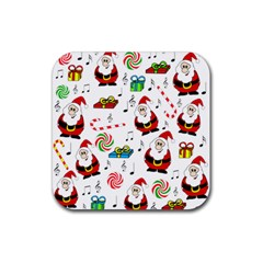 Xmas song Rubber Square Coaster (4 pack)
