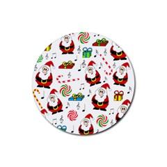 Xmas song Rubber Coaster (Round)