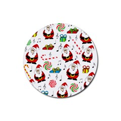 Xmas song Rubber Round Coaster (4 pack)
