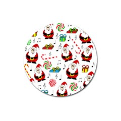 Xmas song Magnet 3  (Round)
