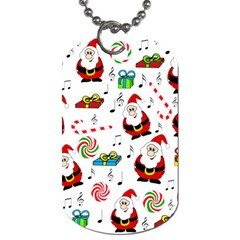 Xmas song Dog Tag (One Side)