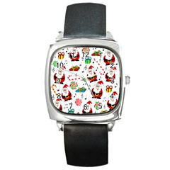 Xmas song Square Metal Watch