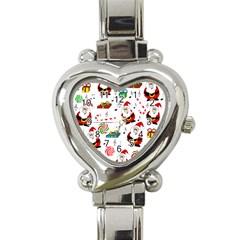 Xmas song Heart Italian Charm Watch