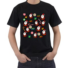 Xmas song Men s T-Shirt (Black) (Two Sided)