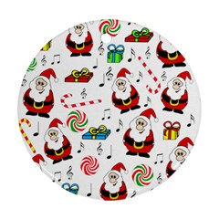Xmas song Round Ornament (Two Sides)