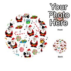Xmas song Playing Cards 54 (Round)