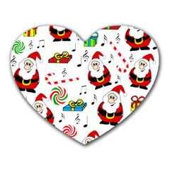 Xmas song Heart Mousepads