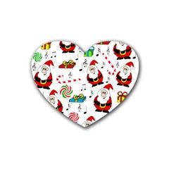 Xmas song Heart Coaster (4 pack)