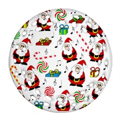 Xmas song Round Filigree Ornament (2Side)