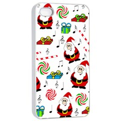 Xmas song Apple iPhone 4/4s Seamless Case (White)