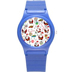 Xmas song Round Plastic Sport Watch (S)
