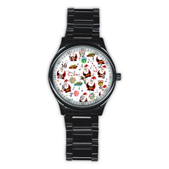 Xmas song Stainless Steel Round Watch